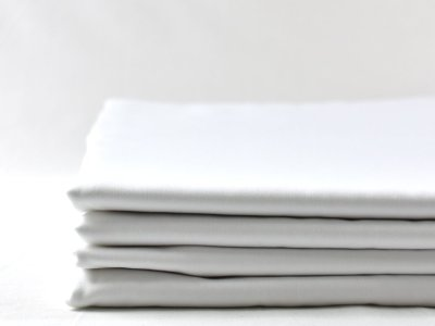 100% organic cotton sheets in white, eco bedding