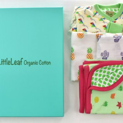 Ethical organic cotton baby gift box