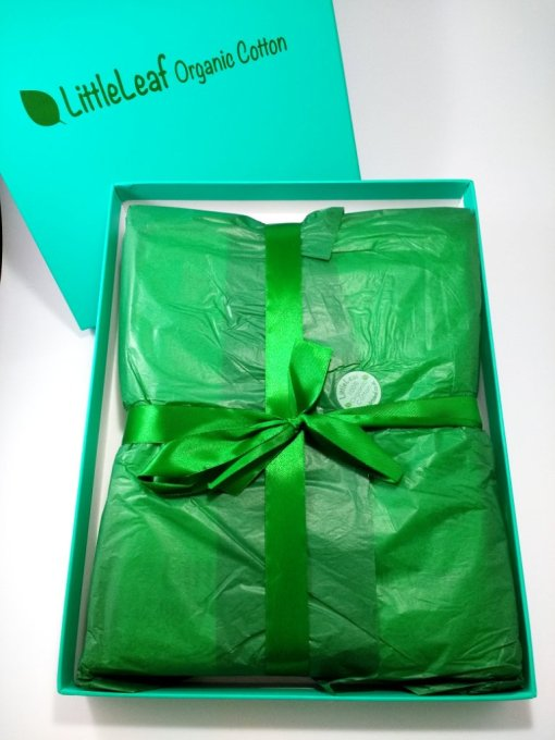 Littleleaf organic cotton gift box wrapping