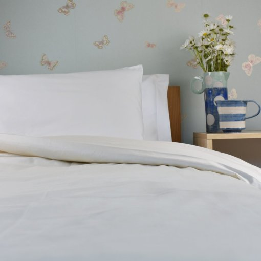 Organic Cotton Duvet Cover in a Natural Colour, Ethical Bedding, GOTS Certified