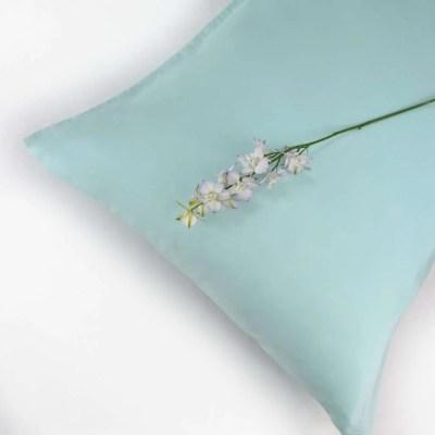 100% Organic Cotton Pillowcase Standard Style in an Aquamarine Colour