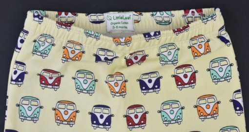 Organic Cotton Camper Van Leggings by LittleLeaf Waistband View