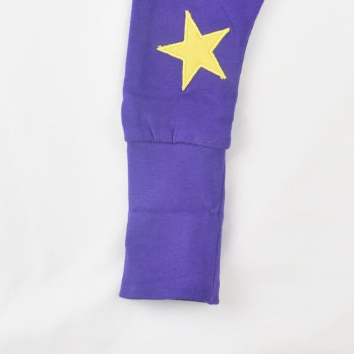 Organic Cotton Star Leggings By LittleLeaf Footcuff Unfolded View