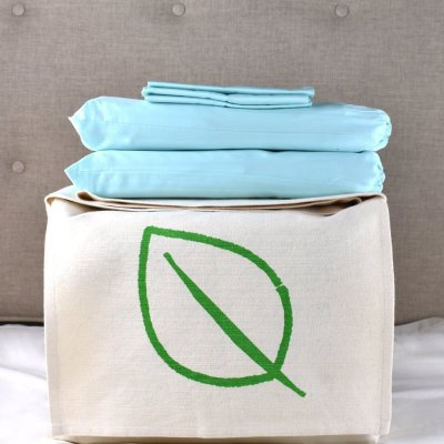 Aquamarine Organic Cotton Bedding Set by LittleLeaf