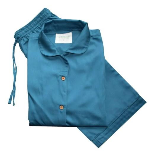Ocean Blue 100% Organic Cotton Pyjamas, GOTS and Soil Association Certified, by LittleLeaf