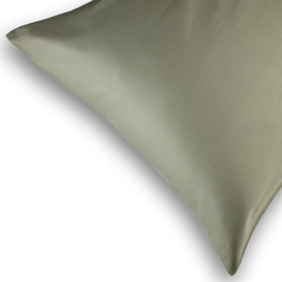 Olive Green Standard Pillowcases by LittleLeaf Organics
