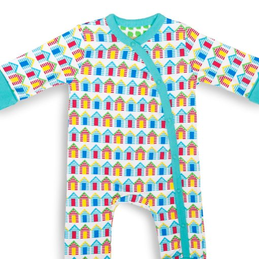Beach Huts Design Baby Grow (Large) by LittleLeaf