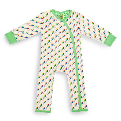 Kites design Organic Baby Grow (Large) by LittleLeaf