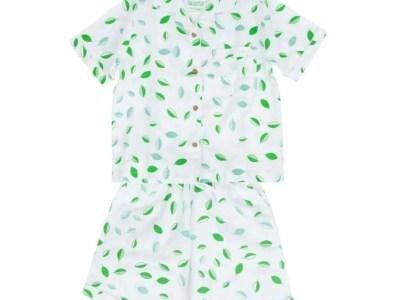 LittleLeaf Children's Tumbling Leaves PJs with Shorts