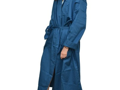 LittleLeaf Ocean Blue Robe Standing Face On