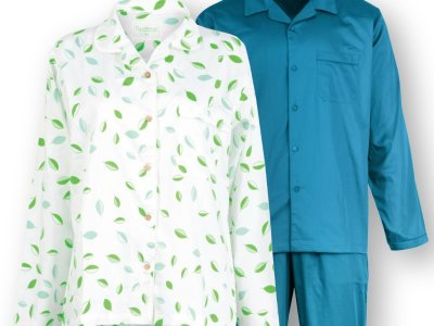 LittleLeaf Organic Cotton as a Gift - here as Pyjamas for Two with Gift Wrapping