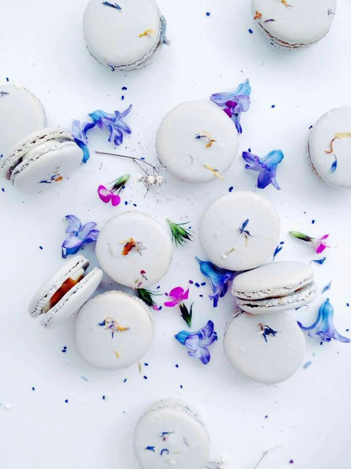 edible flower macaroons