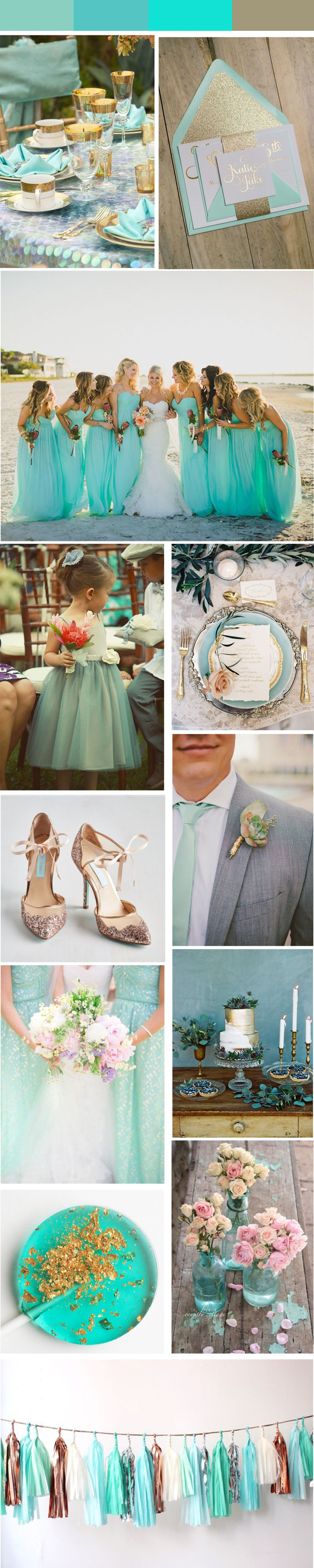 gold turquoise wedding theme