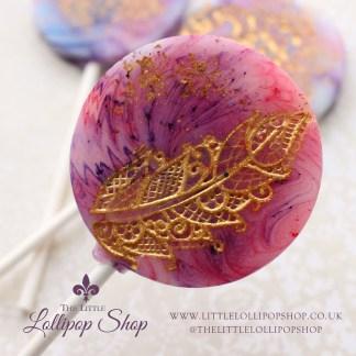 watercolour lollipop favours
