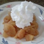Apple dessert with whip cream