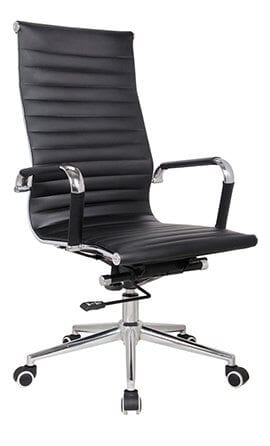 Classic Eames Black Leather Office Chair