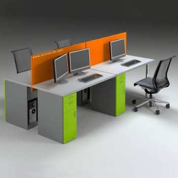 Budget Desk Fitted Screen – Melamine Fabric Deviders