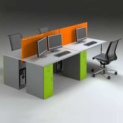 Budget Desk Fitted Screens Bench