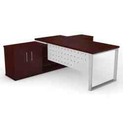 Executive Office Desk Square Frame Leg Top Raiser