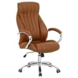 Leather Capri Executive High Back Office Chair Chrome 5 Star Base