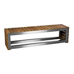 Laminated Wooden Bench Butcher Block – Stainless Steel Frame