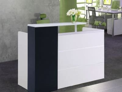 Stellar Single Reception Desk Counter Top