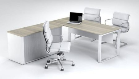 Managerial Cluster Desk – Fixed Credenza