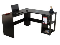 L Computer Desk – Home Office Desk Black