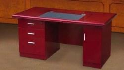Mahogany Veneer Desk Leather Padded Desk