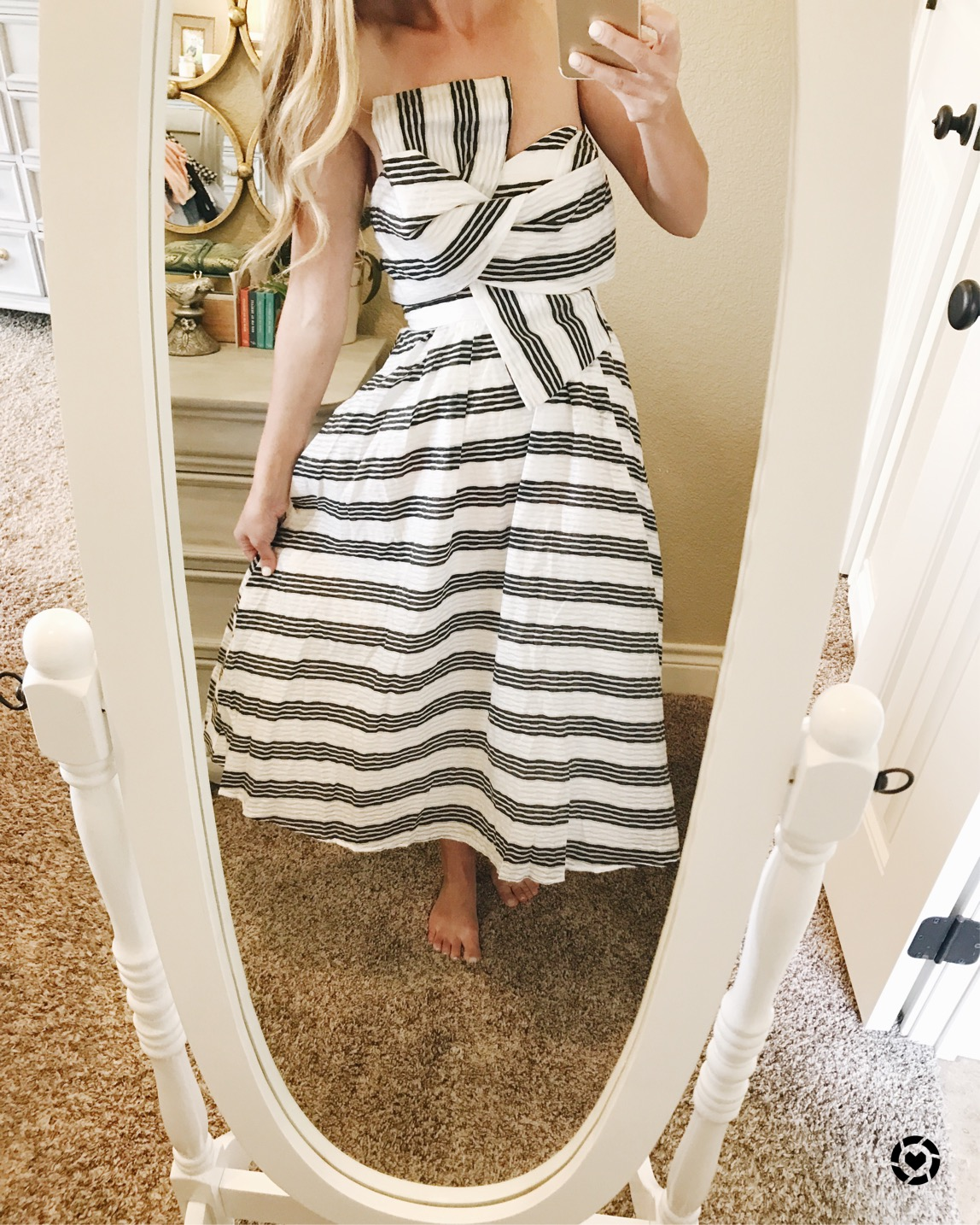 striped bow dress ASOS