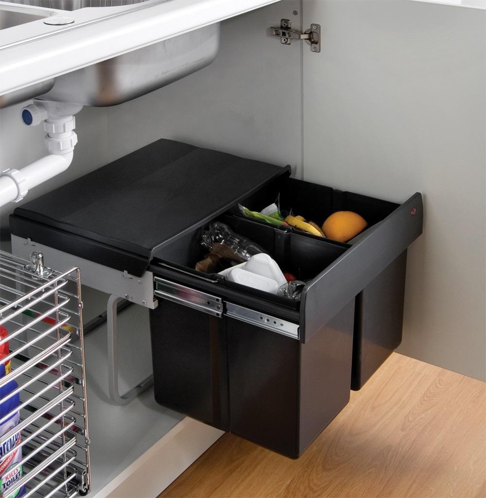 28 kitchen garbage can storage ideas