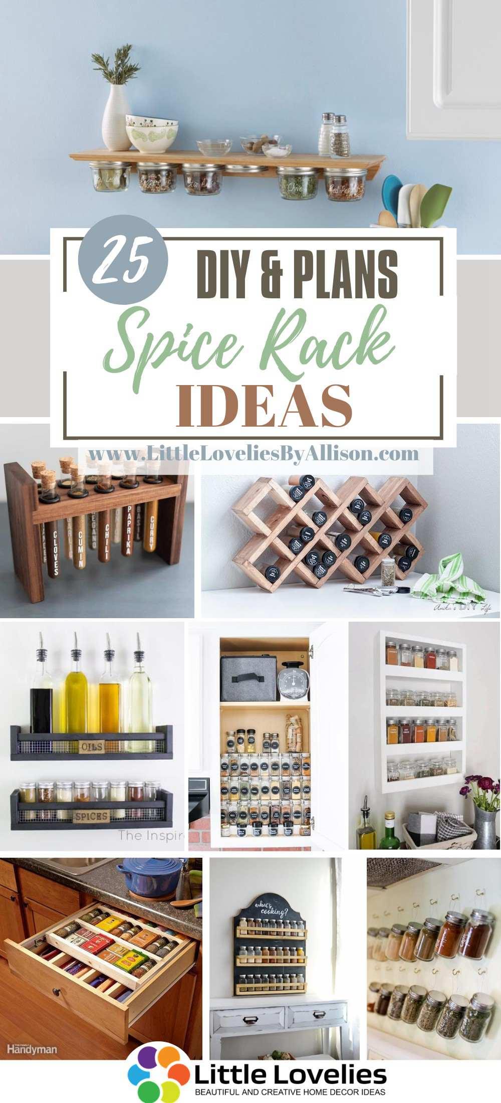 25 diy spice rack ideas cool spice