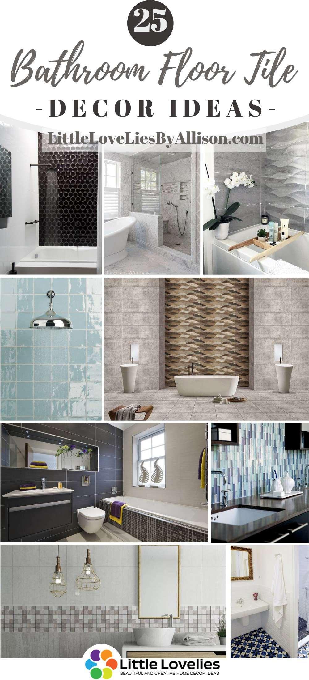 25 bathroom floor tile ideas to