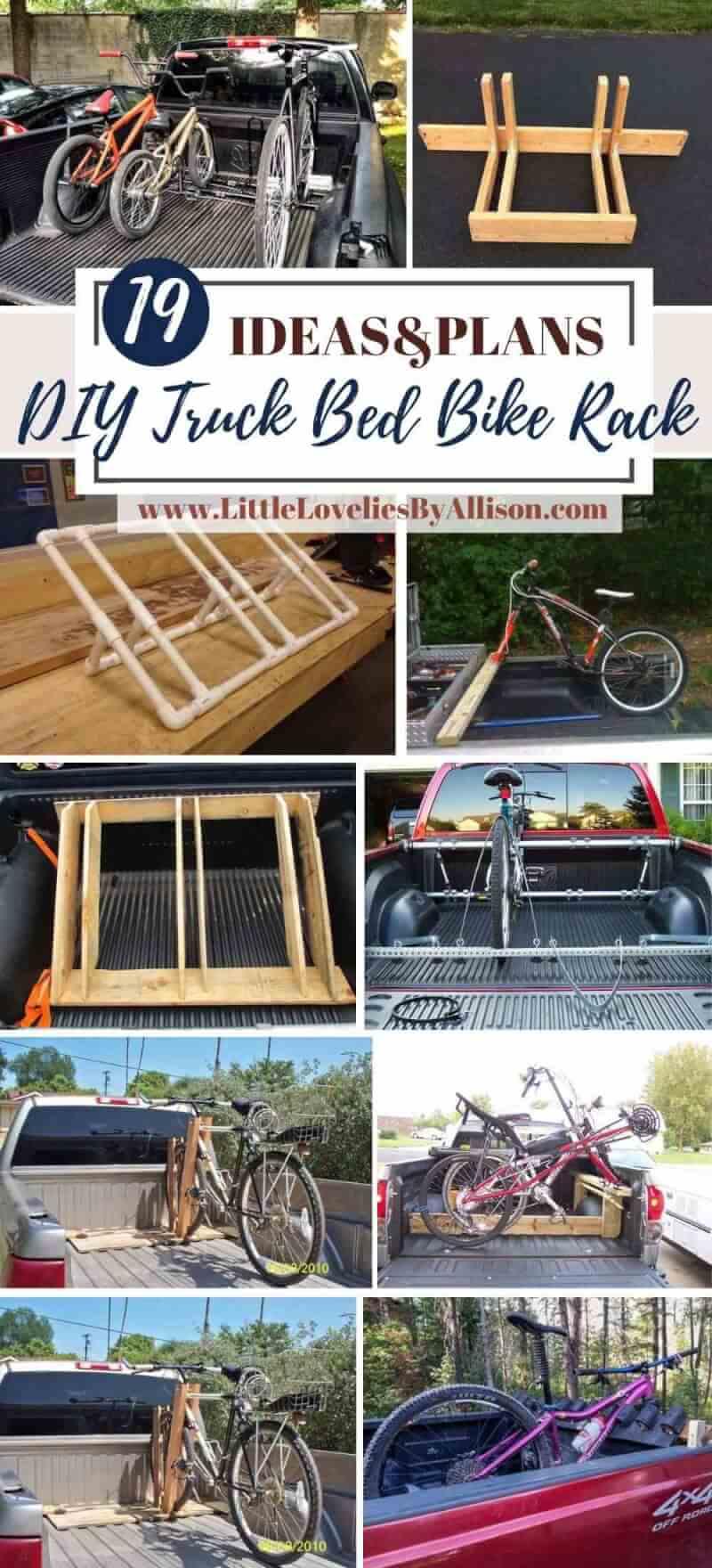 19 diy truck bed bike rack plans you