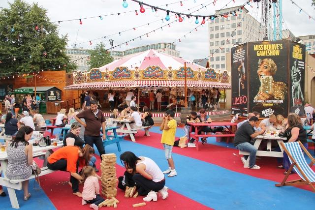 London Wonderground main terrace, carousel bar