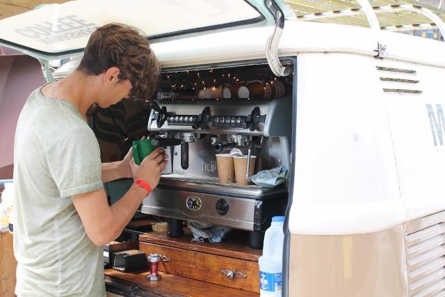 Monkshood Coffee from a van
