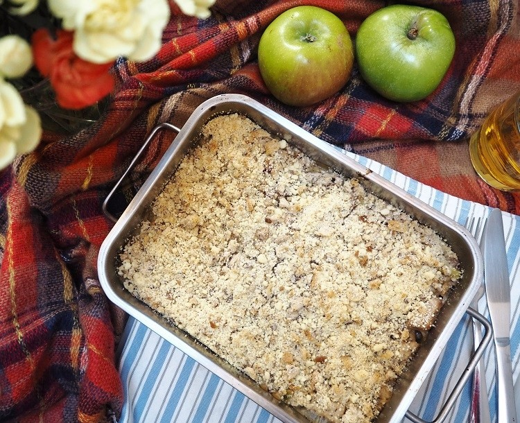 Pork and Bramley Apple Crumble recipe