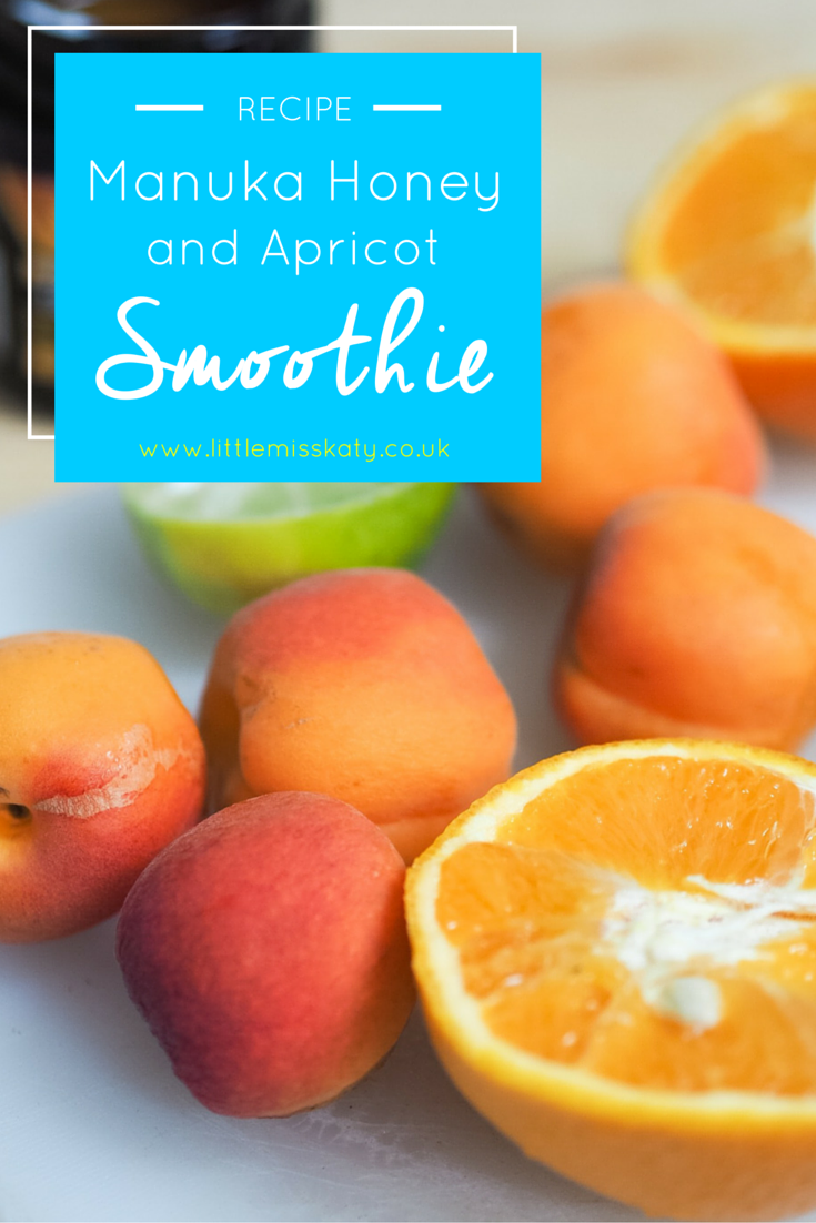 manuka honey and apricot smoothie