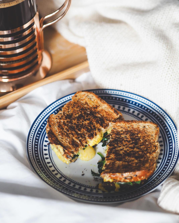 sick day cheese toastie