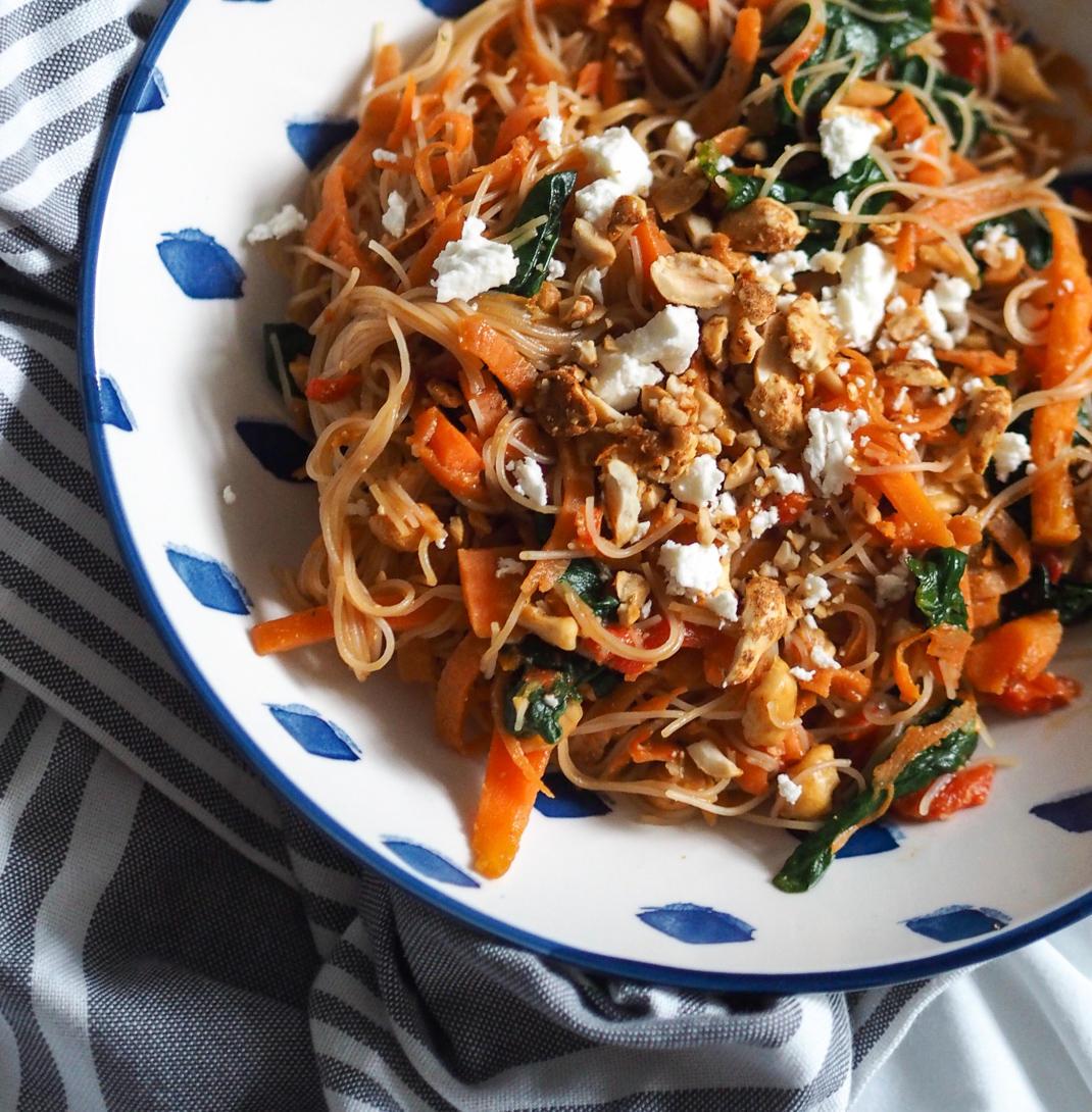 quick thai noodle salad