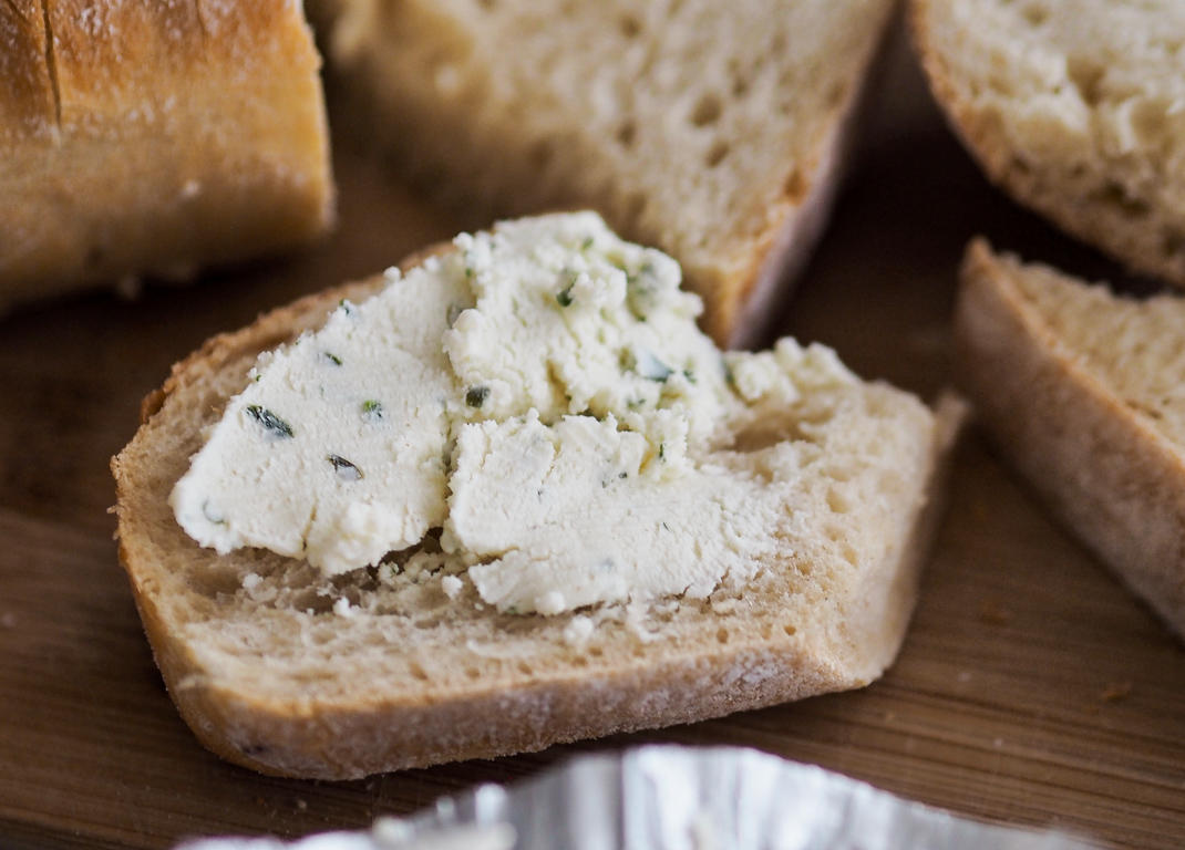 boursin on bread