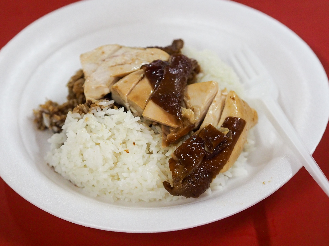 hong kong soya saucechicken rice and noodle