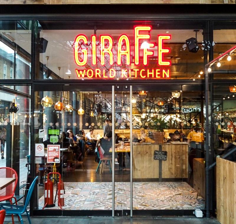 The New Menu at Giraffe World Kitchen