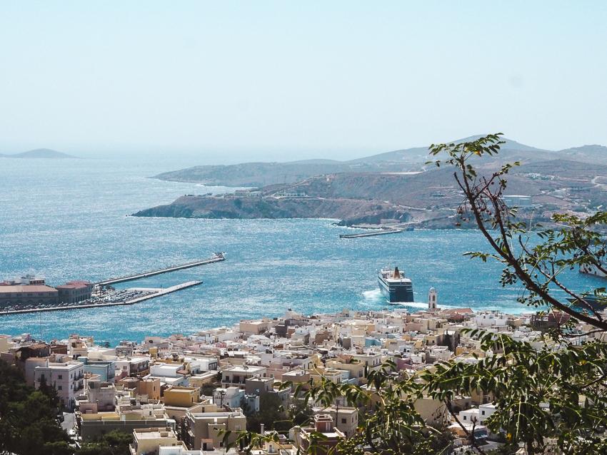view of Ermoupoli port