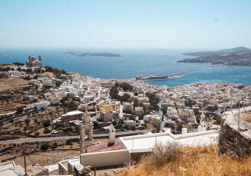 view of ermoupoli, syros