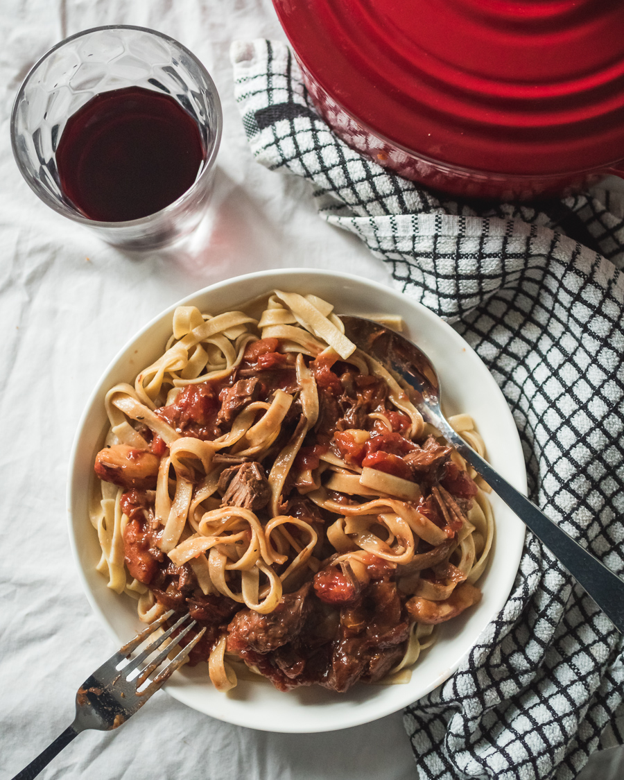 leftover beef stew with pasta