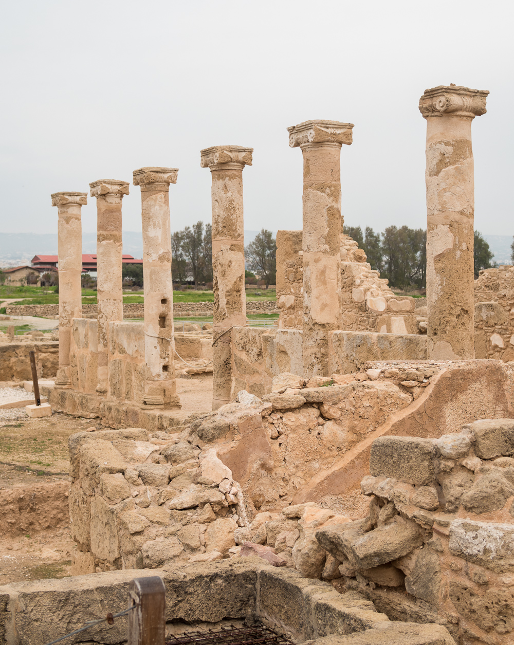 Paphos archeological ruins