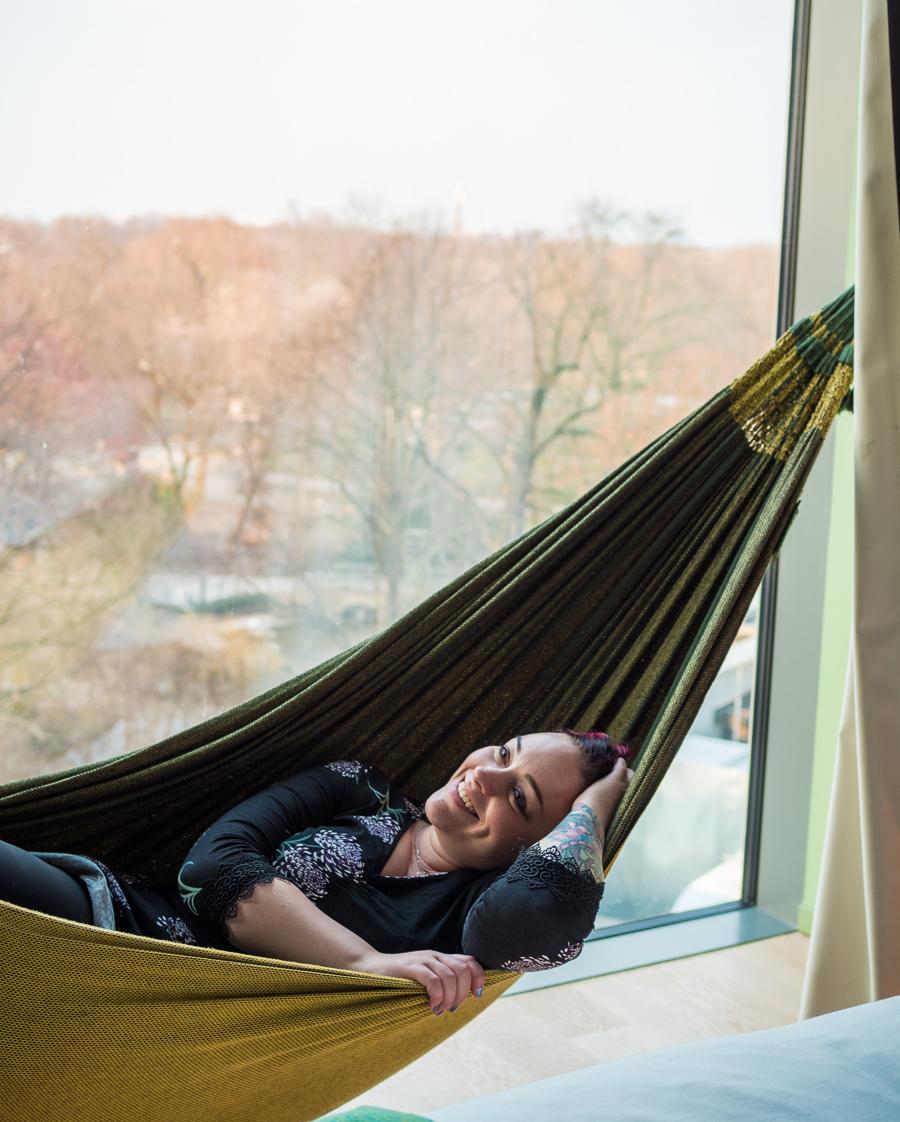 25h Bikini Berlin hotel hammock