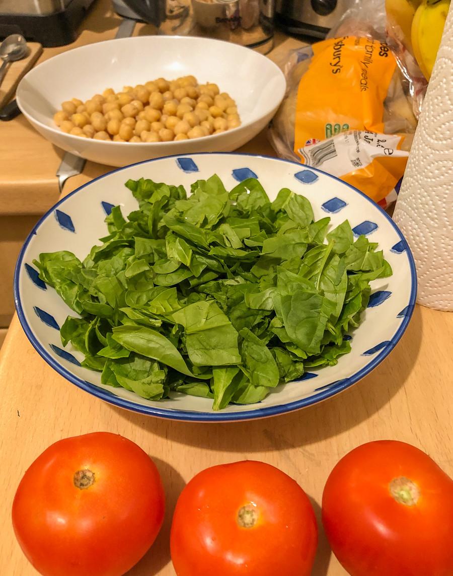 vegan chickpea curry ingredients