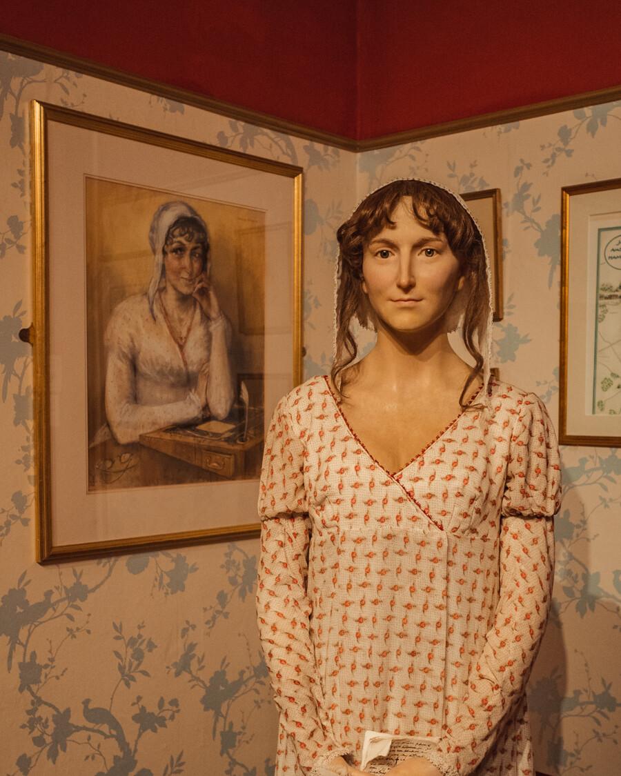 Jane Austen portrait and wax figure